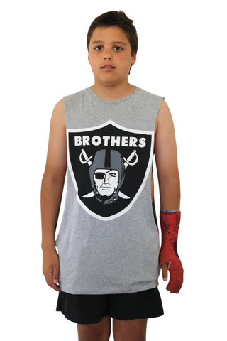 Brothers Grey Marl Muscle Tee