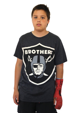 Brothers Charcoal Marl Tee