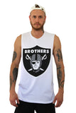 Brothers White Muscle Tee