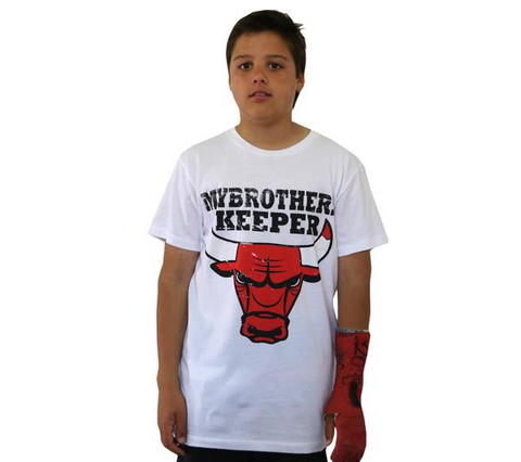 Da Bulls White Youth Tee