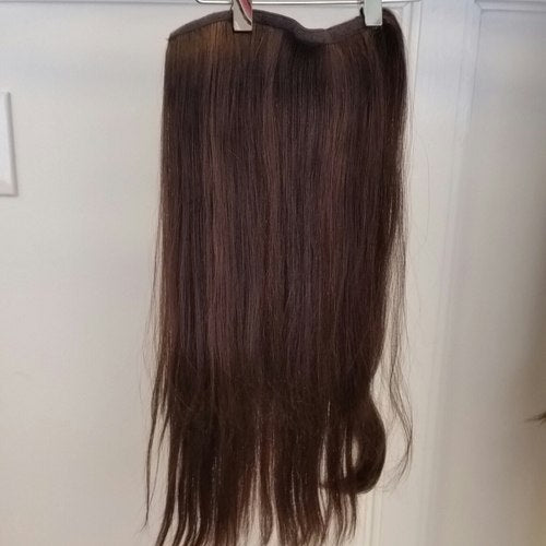 Human Hair Pony Extension Long #8/6 Straight Hair Texture