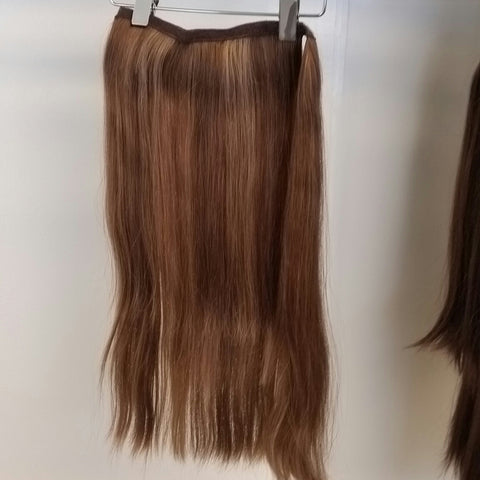 Human Hair Pony Extension Long #24/12 Straight Hair Texture