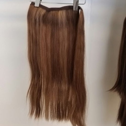 Human Hair Pony Extension Long #16/10 Straight Hair Texture