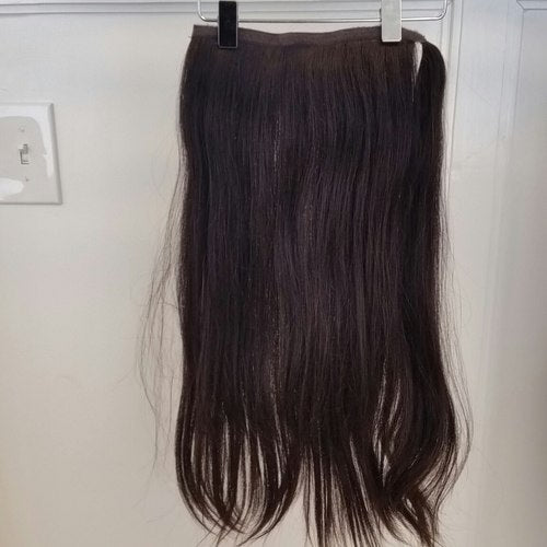 Human Hair Pony Extension Long #2 Straight Hair Texture