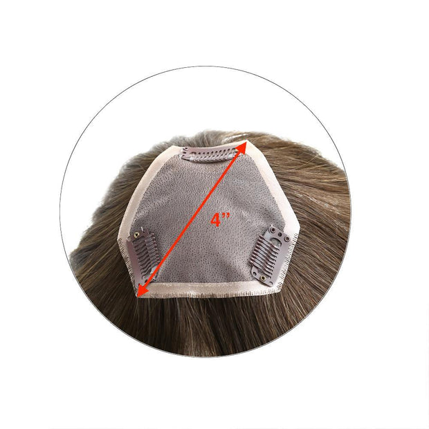 STRAIGHT Monofilament Clip-in Human Hair Women's Topper