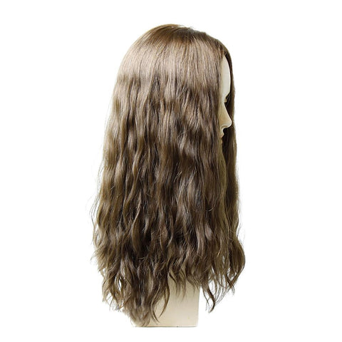 Wefted Topper- French Top Human Hair Piece