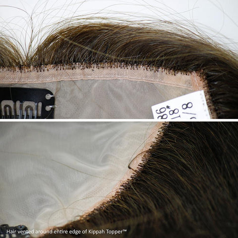 WAVY Kippah Topper - French Top Human Hair Piece