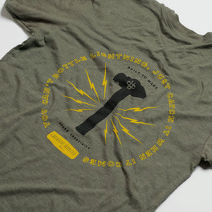 The Lightning Shirt - Olive Heather