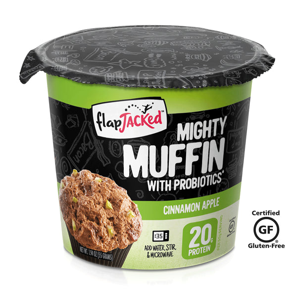 FlapJacked Mighty Muffin Cinnamon Apple 20g Proteina y Probioticos