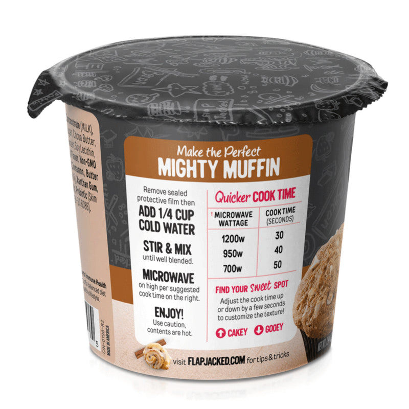 Biaa Cinnamon Roll Mighty Muffin FlapJacked protein probioticos proteina