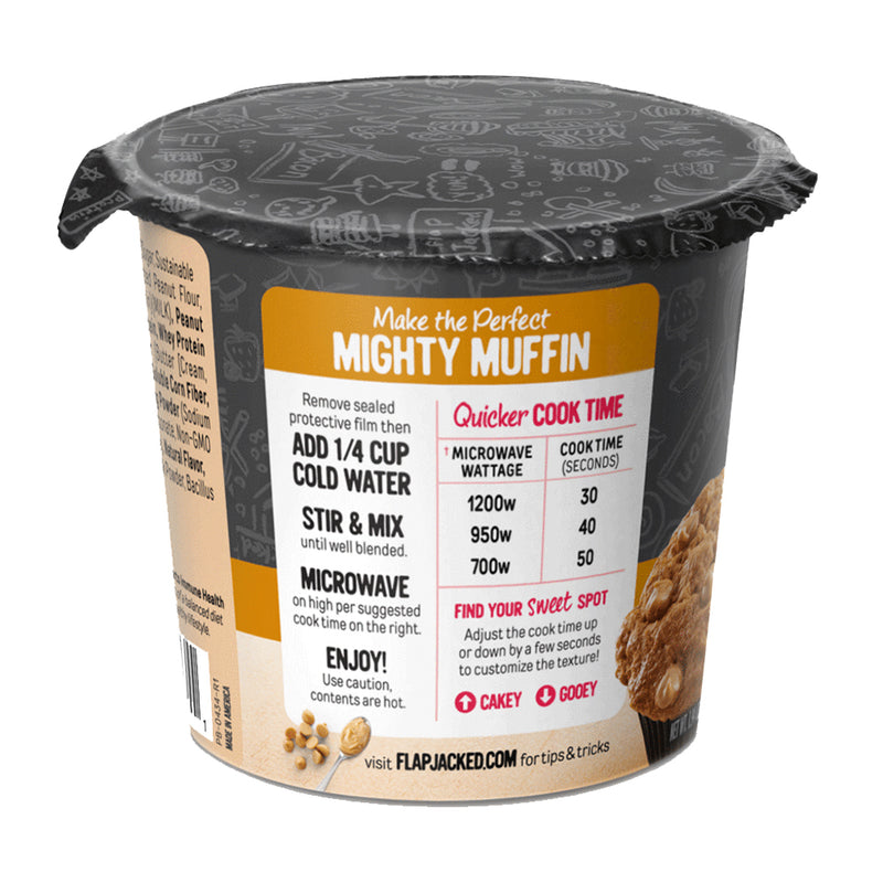 Biaa FlapJacked Mighty Muffin Peanut Butter Gluten Free 20g proteina