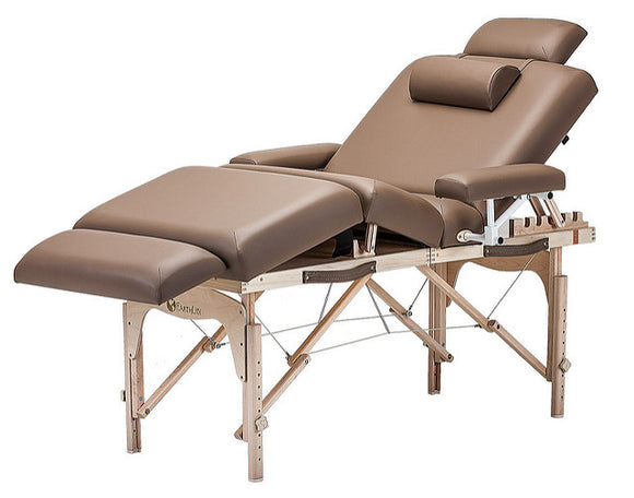 EarthLite CALISTOGA Portable Lift Back Salon Table