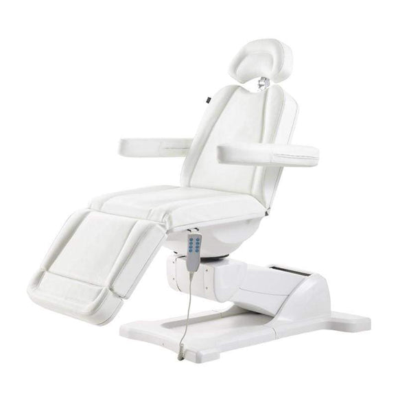 Pavo FACIAL Beauty Bed & Chair in White - Full Electrical With 4 Motors DIR 8709W