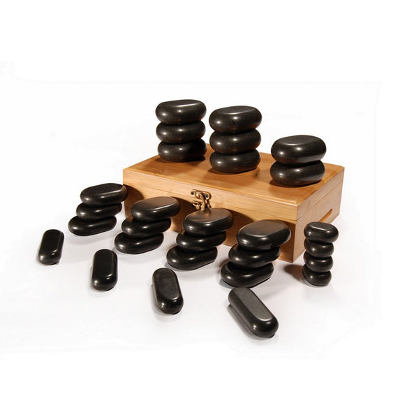 Master Massage 28 Piece HOT STONE SET 100% Basalt Rocks