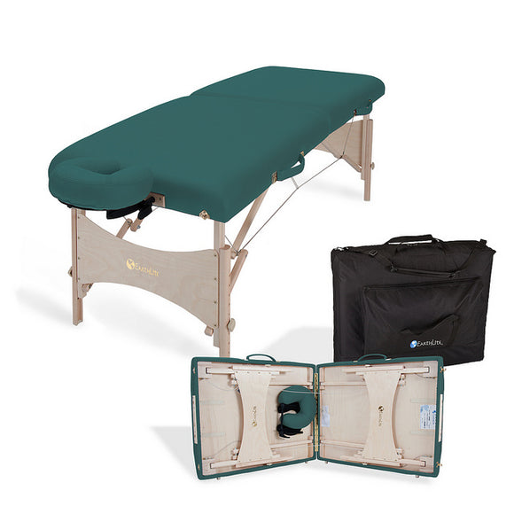 Teal EarthLite HARMONY DX Portable Massage Table Package