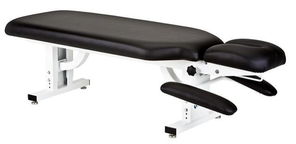 Black EarthLite APEX STATIONARY Chiropractic Series Massage Table