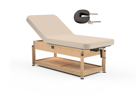 Oakworks CLINICIAN Manual-Hydraulic Lift-assist Backrest Top