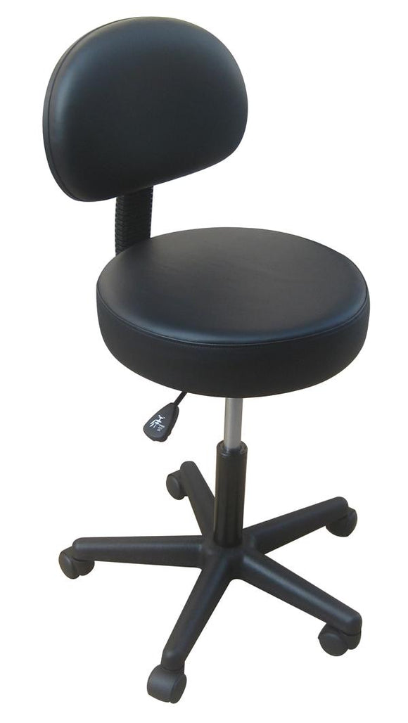 Nirvana HYDRAULIC Stool with Backrest