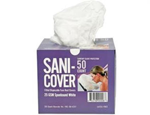 CC Sani-Cover Fitted Disposable Face Rest Covers - Box of 50