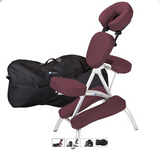 Burgundy EarthLite VORTEX Portable Massage Chair Package
