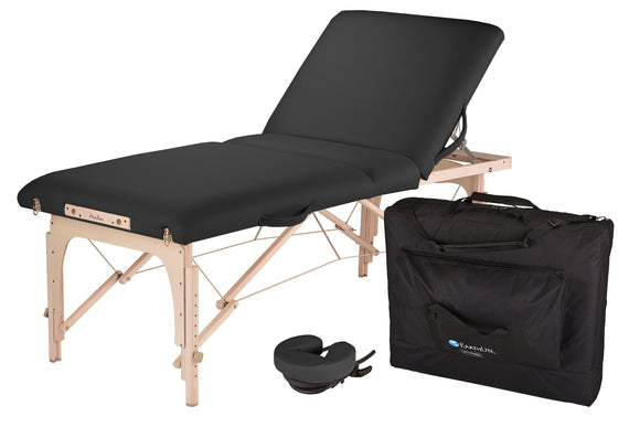 Black EarthLite AVALON XD TILT Portable Massage Table Package