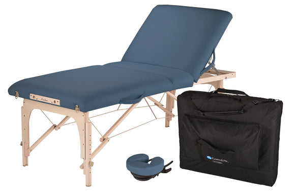 Blue EarthLite AVALON XD TILT Portable Massage Table Package