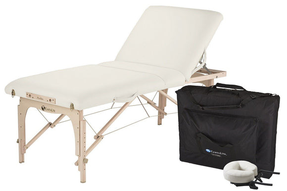 White EarthLite AVALON XD TILT Portable Massage Table Package