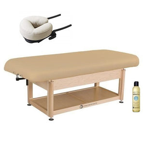 Living Earth Crafts NAPA Flat Top Spa Treatment Shelf Base Hydraulic Lift Table