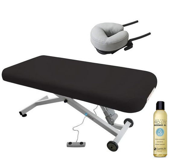 Black Earthlite ELLORA LIFT Massage Table