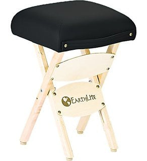 Black EarthLite Folding Massage Stool