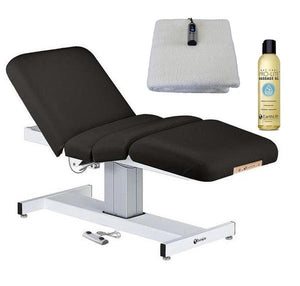 Black EarthLite EVEREST FULL ELECTRIC SALON Stationary Lift Massage Table