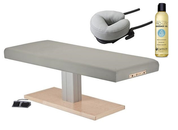 EarthLite EVEREST SPA FLAT Single Pedestal Electric Lift Table