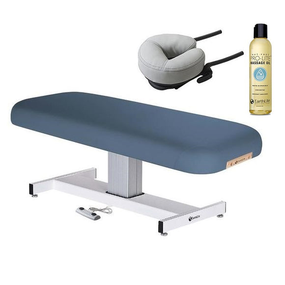 Blue EarthLite EVEREST Flat Electric Lift Massage Table