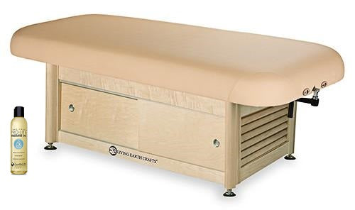 Living Earth Crafts NAPA Flat Top Spa Treatment Cabinet Base Hydraulic Lift Table