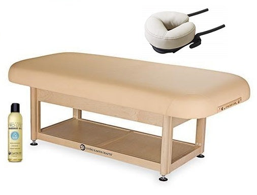 Living Earth Crafts SERENITY Flat Spa Treatment Shelf Base Hydraulic Lift Table