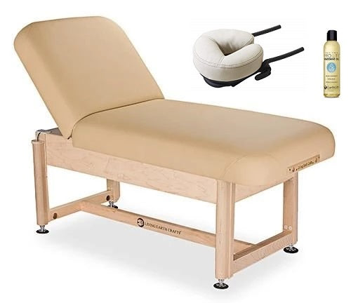 Living Earth Crafts SERENITY Facial Spa Treatment Trestle Base w/ PowerAssist Hydraulic Lift Table