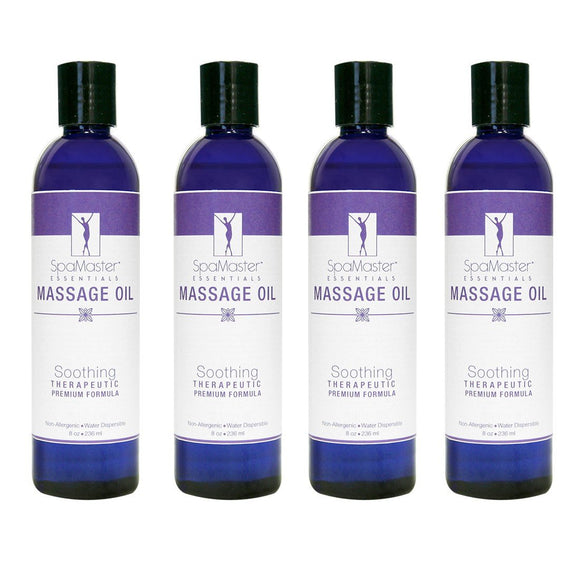 Master Massage Oil 8 oz. 4-pack SOOTHING