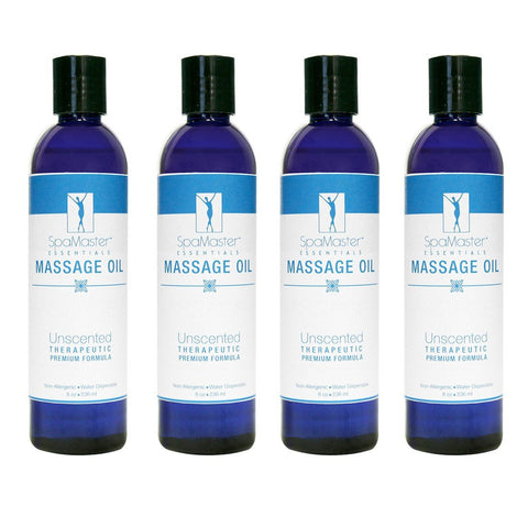 Master Massage Oil 8 oz. 4-pack UNSCENTED