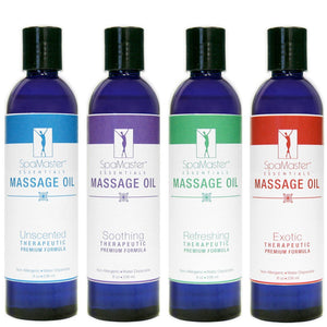 Master Massage Oil 8 oz. 4-pack VARIETY