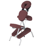 Burgundy EarthLite VORTEX Portable Massage Chair
