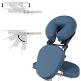 Blue EarthLite VORTEX Portable Massage Chair Package