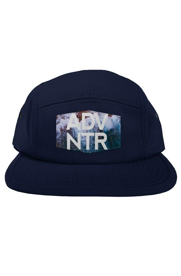 Outsidevibes ADNVTR Blue 5 Panel Hat Travel and Outdoor brand