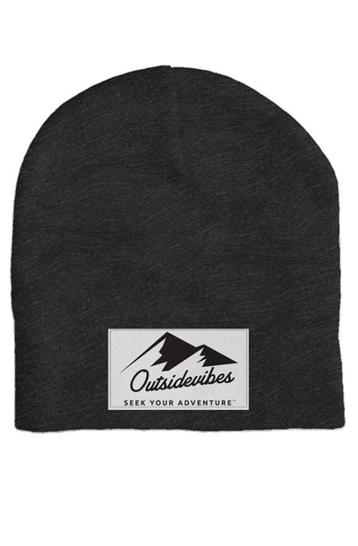 Outsidevibes Dark Heather Grey Skull Beanie