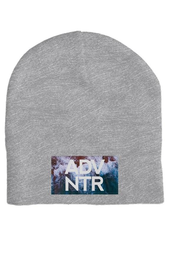 ADVNTR Wave Heather Grey Skull Beanie