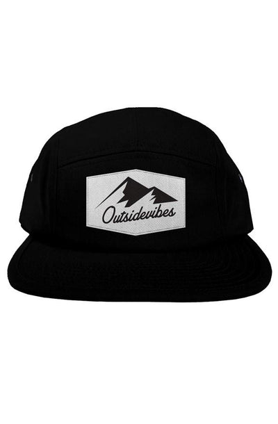 Outsidevibes Black 5 Panel Hat