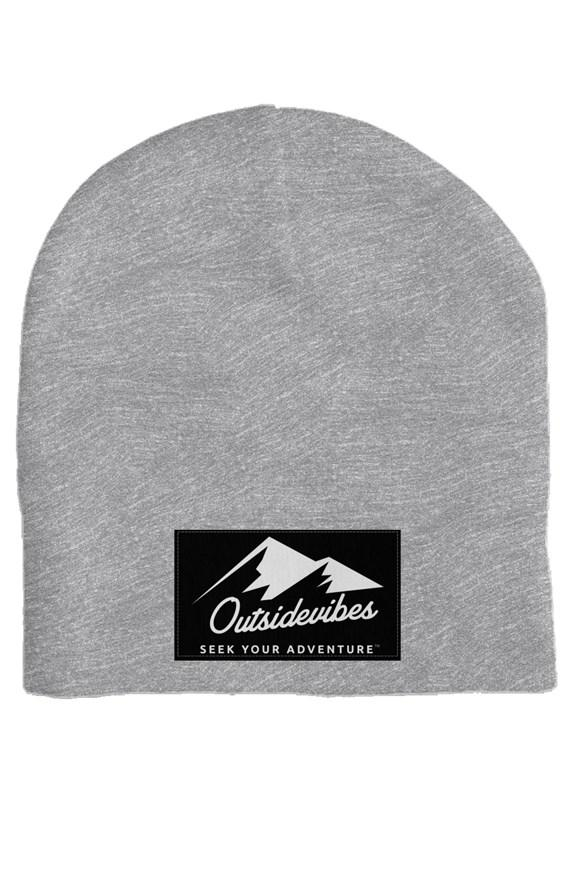 Outsidevibes Heather Grey Skull Beanie