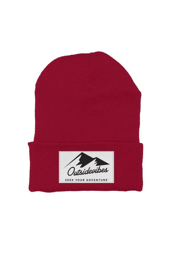 Outsidevibes Cranberry Beanie