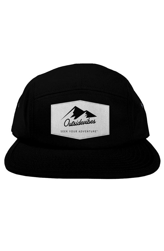 Outsidevibes 5 Panel Black Cap