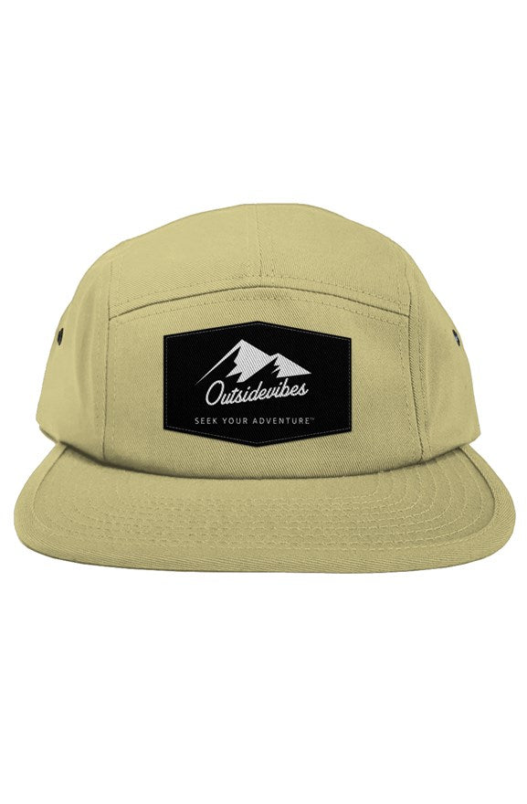 Outsidevibes 5 Panel Khaki Cap