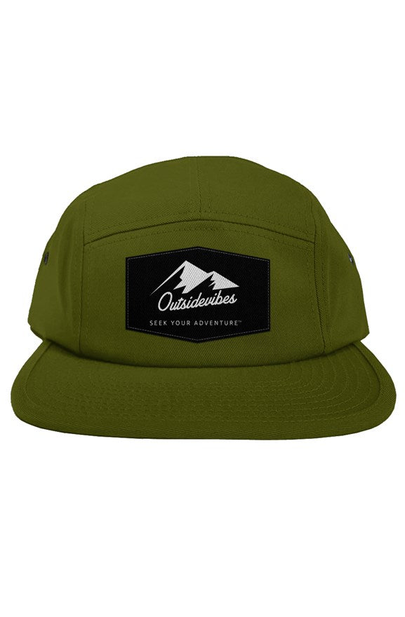 Outsidevibes 5 Panel Olive Cap